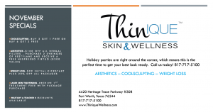 Thinique November Specials
