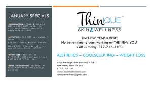 Thinique January Specials